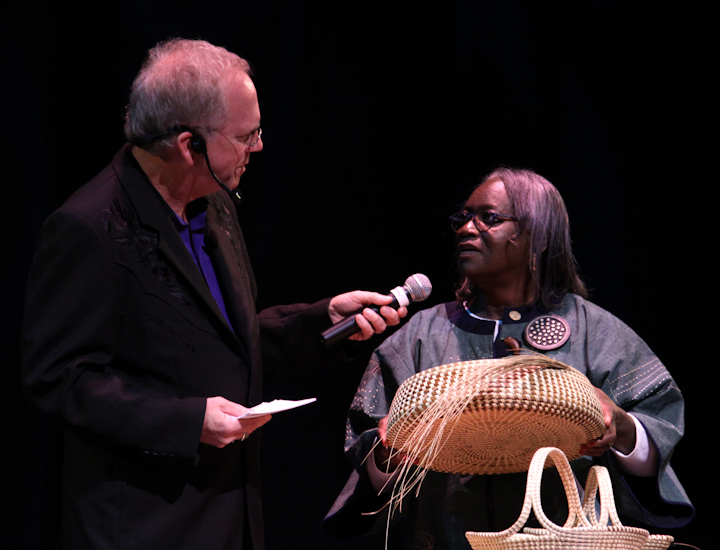 Mary Jackson and Nick Spitzer, 2010 National Heritage Fellowship Concert, Bethesda, Maryland, photograph by Michael G. Stewart
