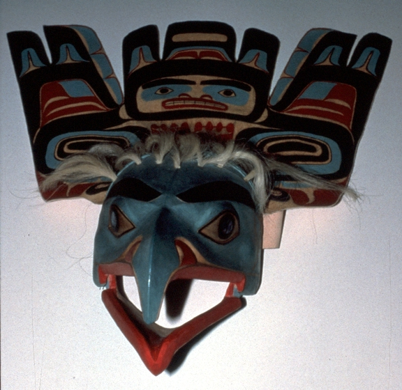 Mask/headdress by Nathan Jackson, courtesy Alaska State Council on the Arts
