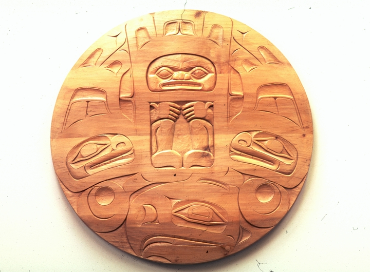 Tlingit relief carving by Nathan Jackson, Courtesy National Endowment for the Arts