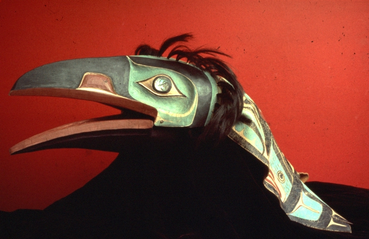 Raven headdress by Nathan Jackson, courtesy National Endowment for the Arts