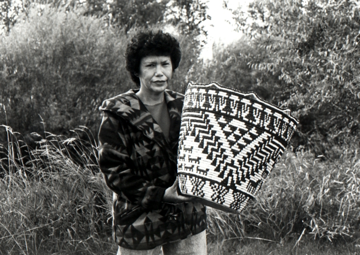 Nettie Kuneki Jackson is recognized as one of the most skilled makers of coiled baskets among the Klickitat, a people of the Yakama Nation. Courtesy National Endowment for the Arts