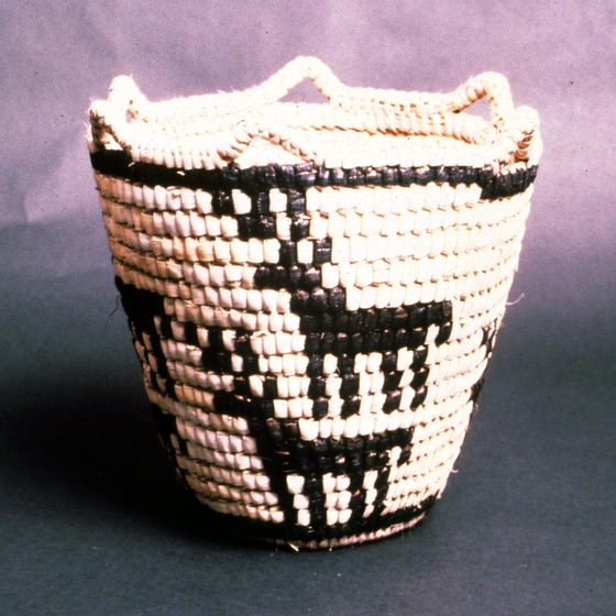 Klickitat cedar root basket designed and created by Nettie Kuneki Jackson, courtesy National Endowment for the Arts