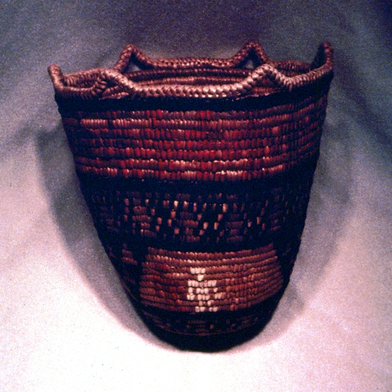 'People of the World II', Klickitat cedar root basket designed and created by Nettie Kuneki Jackson, courtesy National Endowment for the Arts