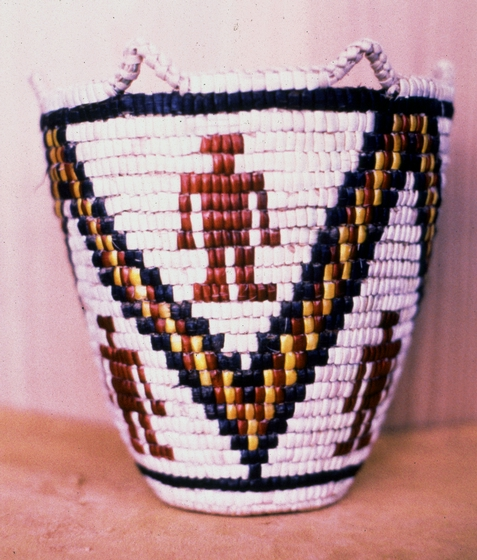 Klickitat cedar root basket designed and created by Nettie Kuneki Jackson in 1981, courtesy National Endowment for the Arts