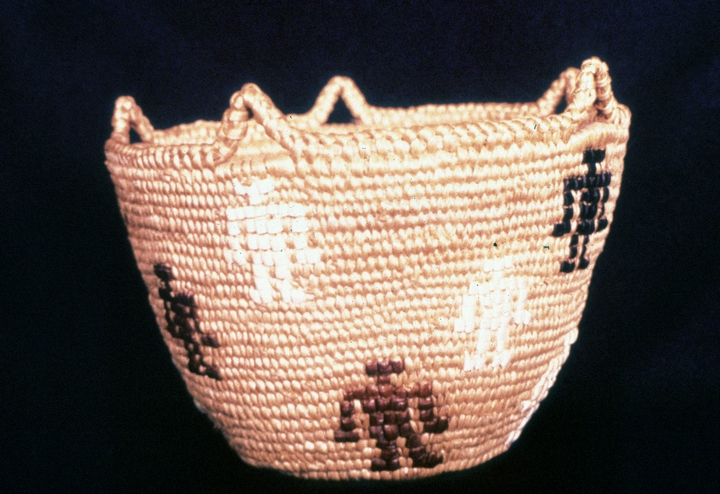 'People of the World,' Klickitat cedar root basket designed and created by Nettie Kuneki Jackson, courtesy National Endowment for the Arts