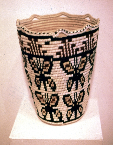 Nine gallon Klickitat cedar root basket designed and created by Nettie Kuneki Jackson, courtesy National Endowment for the Arts