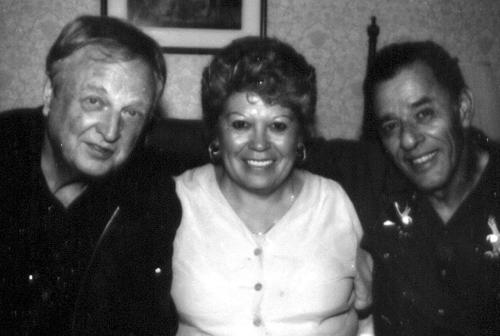 Santiago Jiménez, Jr. and his wife, Mary, with Arhoolie Records owner Chris Strachwitz, Washington, D.C., 2000, photograph by Alan Govenar