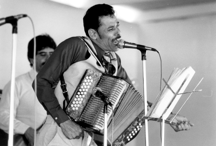 Santiago Jiménez, Jr., San Antonio, Texas, 1985, photograph by Chris Strachwitz/Arhoolie Records