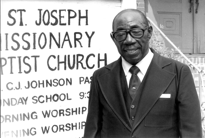 When orator and singer Claude Joseph Johnson led his congregation, his sure and supple voice added a distinctive passion and conviction. Photograph by Annie Archibold, courtesy National Endowment for the Arts