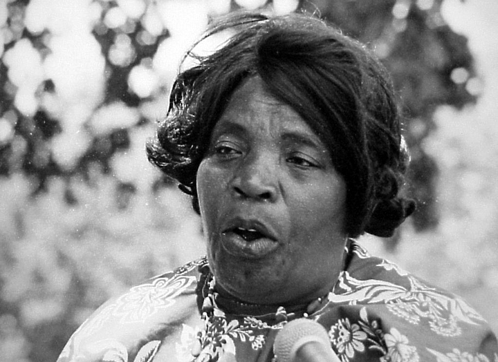 Bessie Jones, 1974 Festival of American Folklife, courtesy Ralph Rinzler Folklife Archives and Collections, Center for Folklife and Cultural Heritage, Smithsonian Institution
