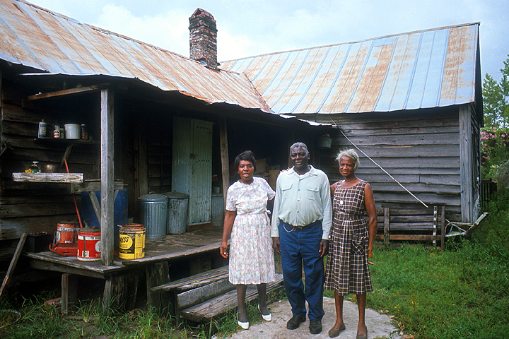 Bessie Jones, George Harris and Leola Polite Harris, St. Simons Island, Georgia, 1966, courtesy Ralph Rinzler Folklife Archives and Collections, Center for Folklife and Cultural Heritage, Smithsonian Institution