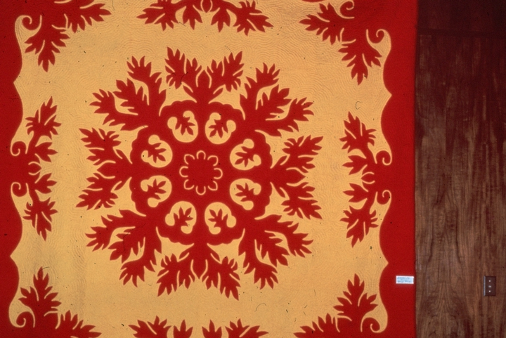 Quilt (detail) by Meali'i Kalama, cotton appliqué, courtesy National Endowment for the Arts