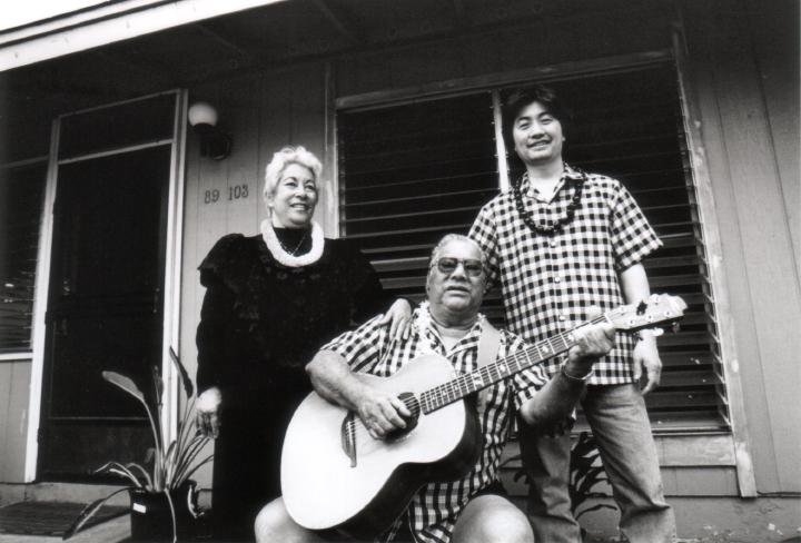 From left: Elodia Kane, Raymond Kane, Yuki Alani Yamauchi, 1998, courtesy Raymond Kane