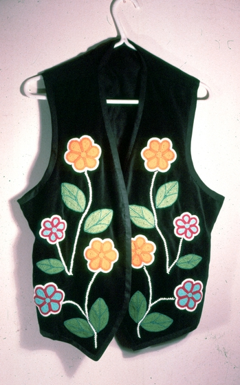 Hand-crafted vest by Maude Kegg, Courtesy National Endowment for the Arts