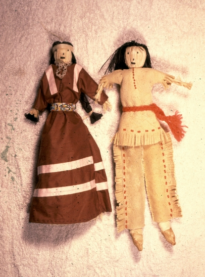 Hand-crafted dolls by Maude Kegg, Courtesy National Endowment for the Arts