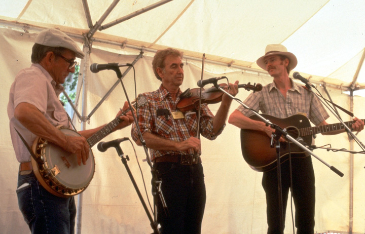 From left: Will Keys, Ralph Blizard and Phil Jamieson, 1986 Smithsonian Festival of American Folklife, photograph by Robert Cogswell, courtesy Tennessee Arts Commission