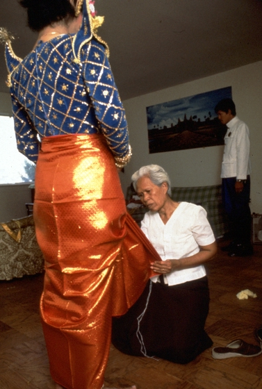 Peou Khatna (right), photograph by Dexter Hodges, courtesy National Endowment for the Arts