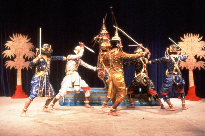 Cambodian court dance choreographed by Peou Khatna, courtesy National Endowment for the Arts