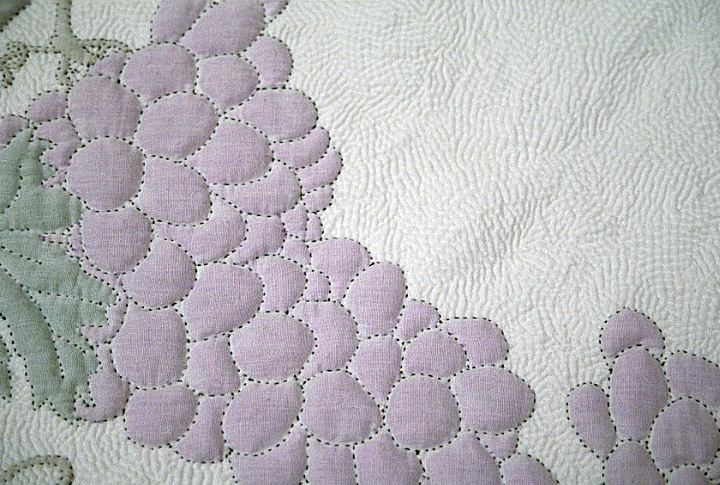 'Cindy's Vineyard Quilt' (detail) by Bettye Kimbrell, Mt. Olive, Alabama, original design by Bettye's daughter, Cindy Denton