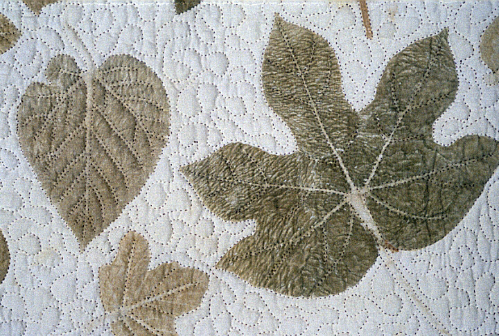 'Cherokee Leaf Pounding Wall Hanging' (detail) by Bettye Kimbrell, courtesy Betty Kimbrell
