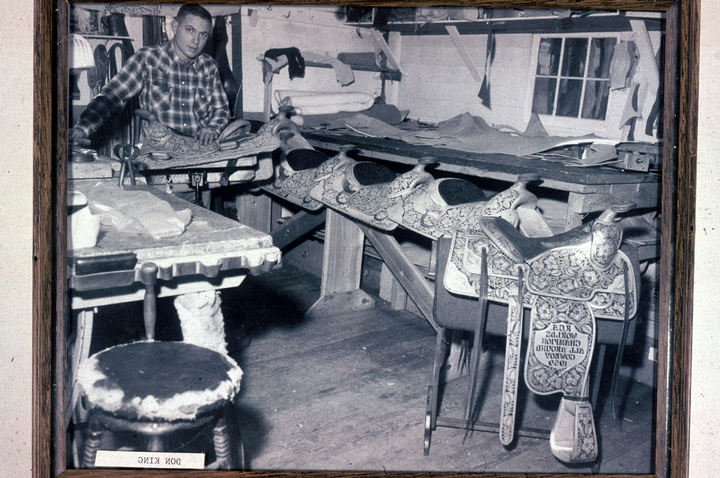 Don King's saddle shop, courtesy National Endowment for the Arts