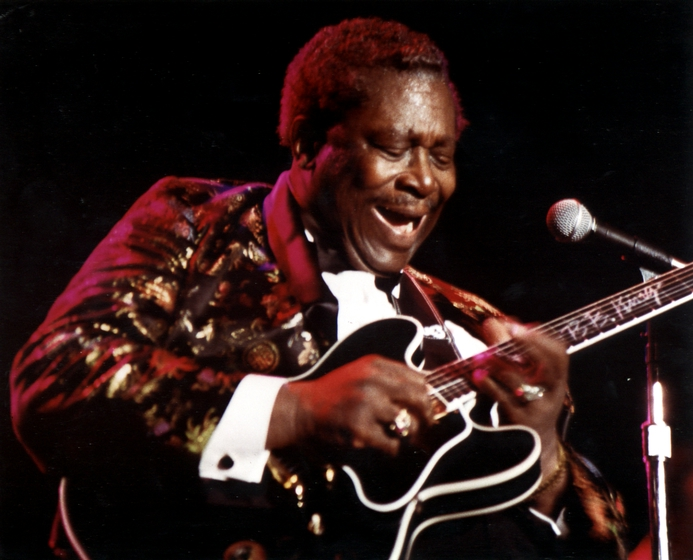 B.B. King rose from poverty in the Mississippi Delta to worldwide fame. He fused a number of influences into a distinctive guitar style that became an important influence upon rock and blues musicians. Photograph by Michael P. Smith