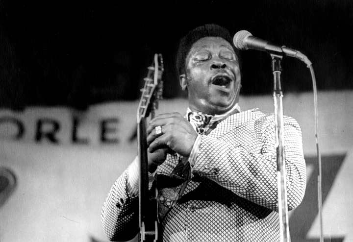 B.B. King, New Orleans Jazz and Heritage Festival, 1972, photograph by Michael P. Smith