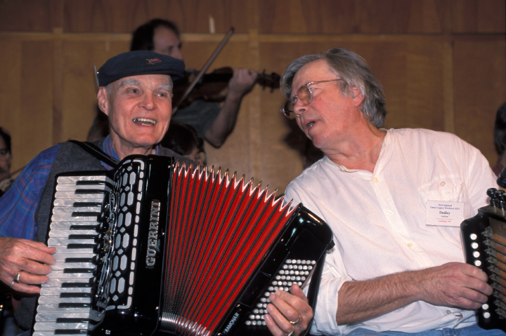 Dudley Laufman and Bob McQillen, photograph by Lynn Martin Graton, courtesy Dudley Laufman