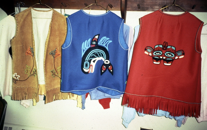 Tlingit vests by Esther Littlefield, 1990, courtesy National Endowment for the Arts