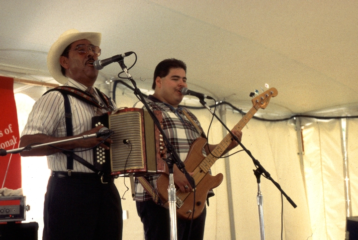Valerio Longoria and his *conjunto*, 1994 Festival of American Folklife, courtesy Ralph Rinzler Folklife Archives and Collections, Center for Folklife and Cultural Heritage, Smithsonian Institution
