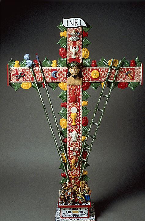 *Retablo* cross by Jeronimo E. Lozano, courtesy Jeronimo E. Lozano