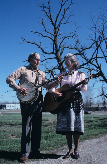 Wade Mainer and his wife, Julia Mainer, photograph by Alan Govenar