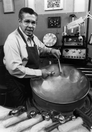 "Elliot ""Ellie"" Mannette, immigrated to the United States from Trinidad,  where he learned to play, make and tune steel drums. He is known as ""Father of the Modern Steel Drum."" Courtesy Elliot ""Ellie"" Mannette"