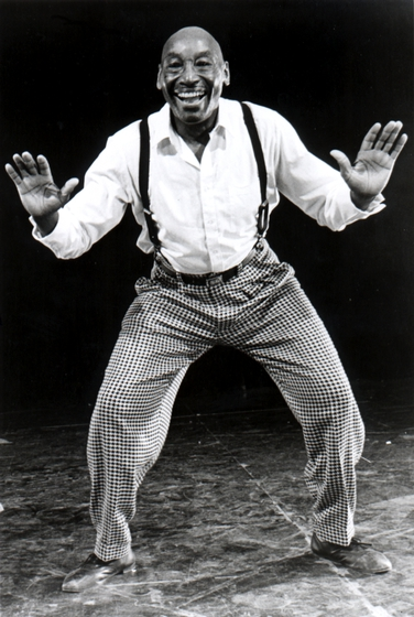 Frankie Manning was one of the original Whitey's Lindy Hoppers at the Savoy Ballroom. His innovations as both choreographer and dancer helped catapult the Lindy Hoppers to fame. Prior to World War II the Lindy Hoppers appeared with swing era big bands and in the movies. Photograph by Ralph Gabriner, courtesy National Endowment for the Arts