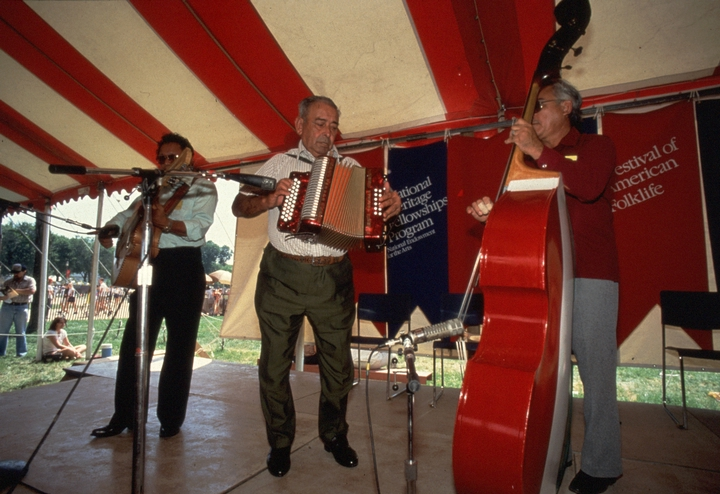Narciso Martínez performing at the 1983 Festival of American Folklife in a program honoring the National Heritage Fellows, courtesy Ralph Rinzler Folklife Archives and Collections, Center for Folklife and Cultural Heritage, Smithsonian Institution