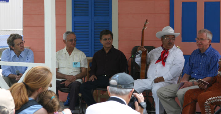 From left: Barry Bergey, Roberto Martinez, Lorenzo Martinez, José Gutiérrez and Dan Sheehy. Nuestra Musica Program, courtesy Barry Bergey