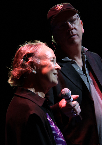 Judith McCulloh and Nick Spitzer, 2010 National Heritage Fellowship Concert, Bethesda, Maryland, photograph by Michael G. Stewart