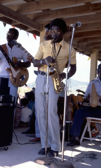 Sylvester McIntosh performing with his band, Blinky & the Roadmasters, courtesy National Endowment for the Arts