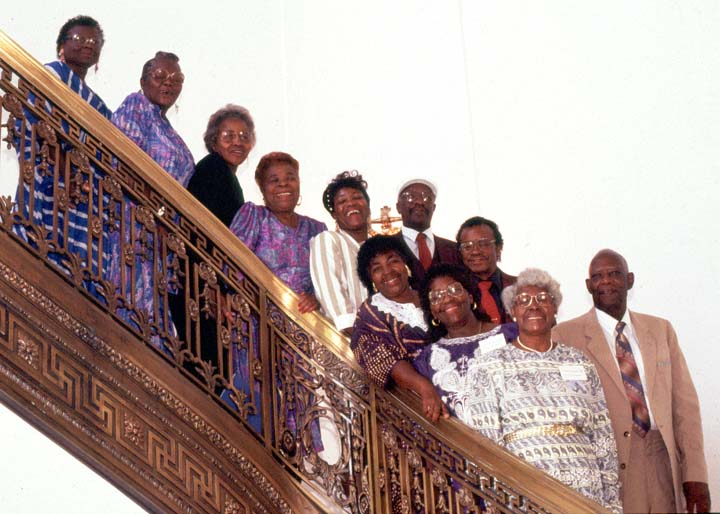 McIntosh County Shouters, 1993 National Heritage Fellowship Ceremonies, photograph by William K. Geiger, courtesy National Endowment for the Arts