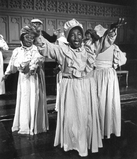 McIntosh County Shouters performing in New York City, 1987, photograph by Jack Vartoogian