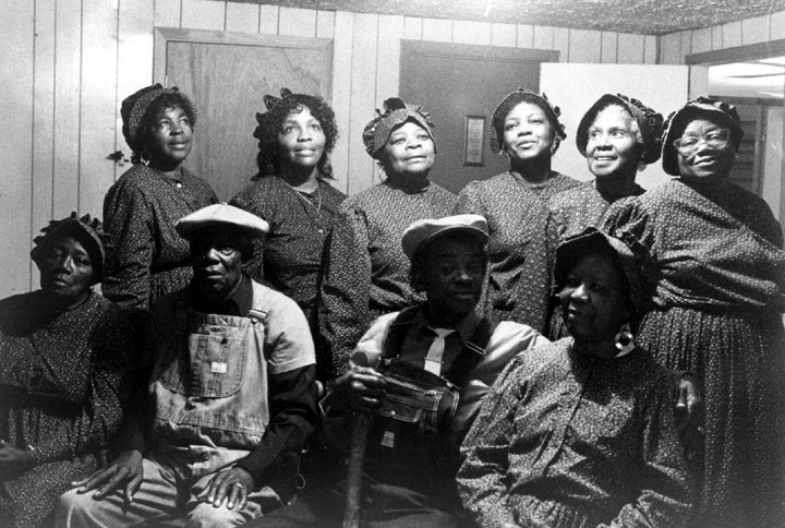 McIntosh County Shouters, photograph by Margo Newmark Rosenbaum, courtesy National Endowment for the Arts