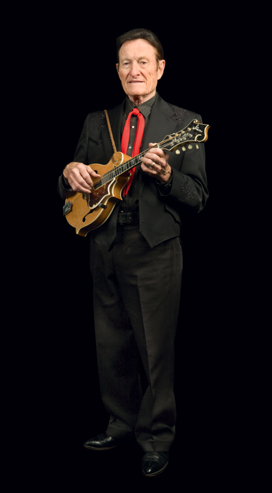 Bluegrass musicians Jim and Jesse McReynolds came from a musical family in the Clinch Mountains of southwestern Virginia and performed together from boyhood. They joined the *Grand Ole Opry* in the mid-1960s. Pictured here is Jesse McReynolds, 2008, photograph by Alan Govenar