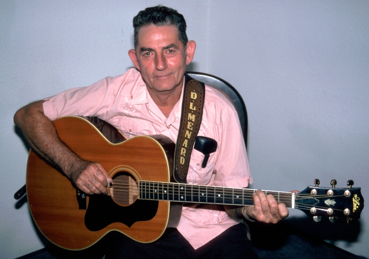 Cajun songwriter and musician D.L. Menard grew up in Louisiana when Cajun French was forbidden in school, so he didn't learn the language until he was grown. Many of his songs in French have become part of the standard traditional repertoire. Washington, D.C., 1994, photograph by Alan Govenar