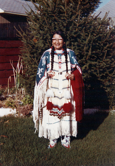 Nellie Star Boy Menard, Rosebud, South Dakota, August 1972, courtesy Nellie Star Boy Menard and National Endowment for the Arts