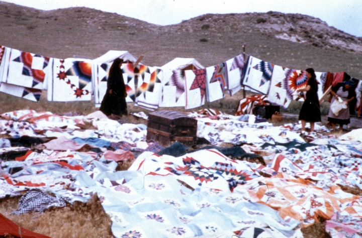 Quilts by Nellie Star Boy Menard, courtesy National Endowment for the Arts