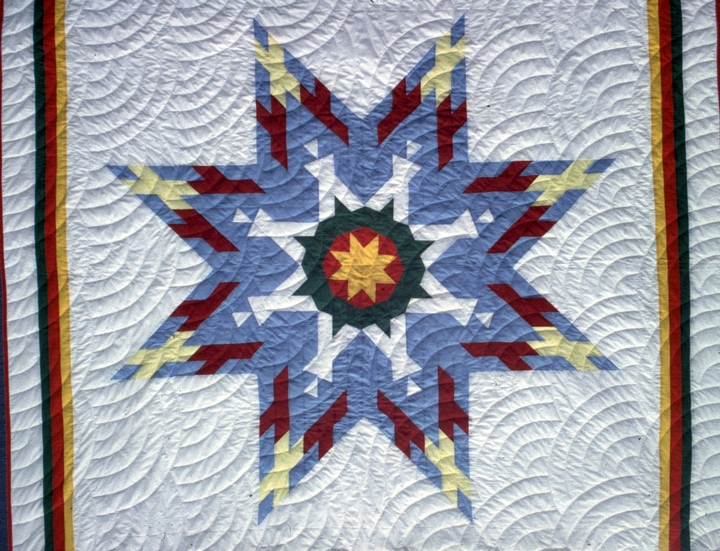 Star quilt (detail) by Nellie Star Boy Menard, courtesy National Endowment for the Arts