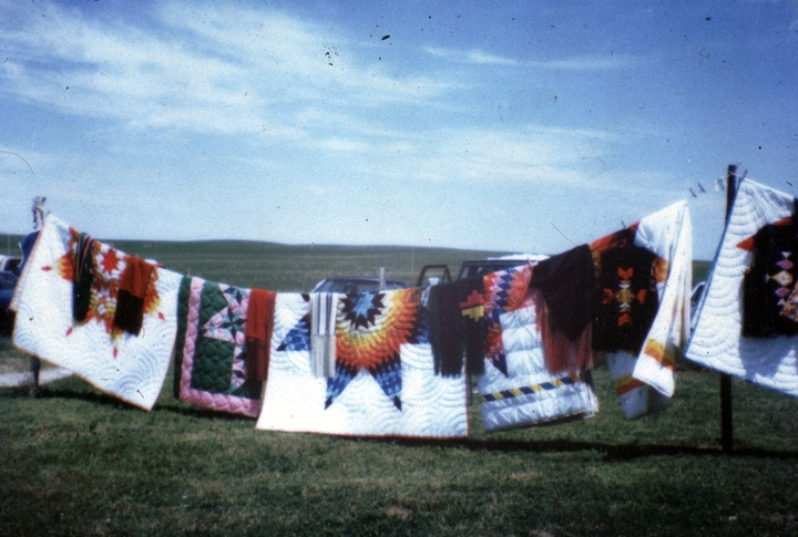 Star quilts by Nellie Star Boy Menard, courtesy National Endowment for the Arts