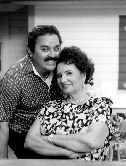 Lydia Mendoza and her husband, Fred Martínez, photograph by Chris Strachwitz/Arhoolie Records