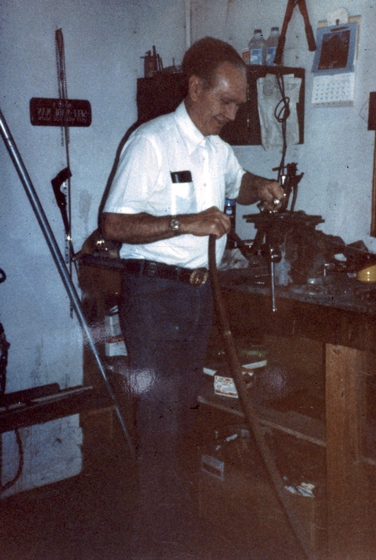 Elmer Miller at work, Nampa, Idaho, courtesy National Endowment for the Arts
