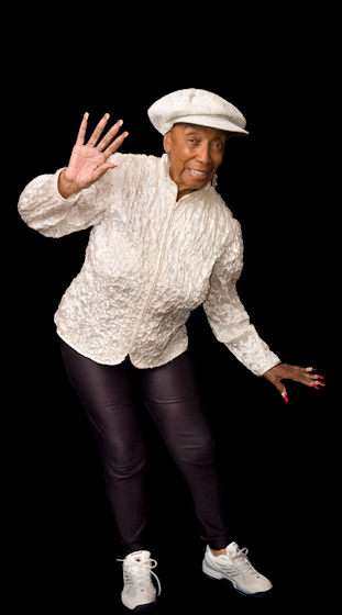 """Norma Miller began Lindy dancing at the famed Savoy Ballroom in Harlem as a girl and went on to a successful career on stage and in films and on television. """"Swing music is perfect,"""" she says. """"I mean, you could swing 'til you're 90."""" New Orleans, Louisiana, July 31, 2008, photograph by Alan Govenar"""